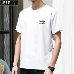 JEEP 吉普 短袖T恤男2021夏季新款男士户外运动休闲时尚薄款透气圆领男装半截袖衣服上衣