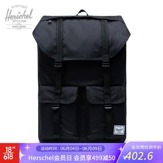 Herschel Supply 和行 Herschel Buckingham 双肩包休闲背包大容量潮包男女书包10509 经典黑色
