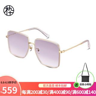 木九十2021新品太阳镜 时尚大方框修颜墨镜 渐变色镜片 防晒可选偏光太阳眼镜 MJ102SG533 TYC2
