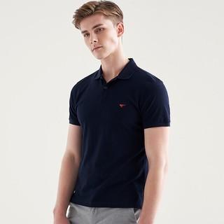 SEPTWOLVES 七匹狼 T恤2021男士短袖时尚商务休闲多彩T恤衫POLO衫男士合体绣标
