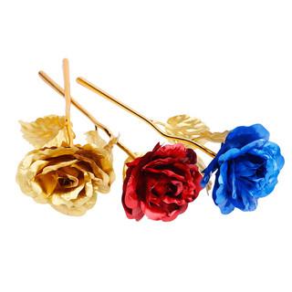 HundredGeneration 佰黛 金色箔玫瑰花 送人 摆件 生日礼物送女友朋友老婆情人节浪漫创意的礼品
