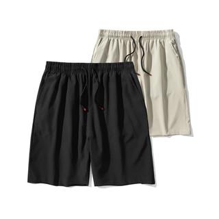 夏季2021新款直筒宽松休闲短裤男士薄款潮流潮牌冰丝运动五分裤潮