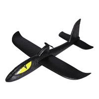 贝利雅 儿童DIY拼装电动手抛滑翔飞机黑精灵