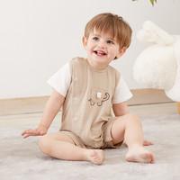 童手童心 婴儿短袖连体衣 多款可选