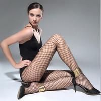 皮尔·卡丹 3条装时尚百搭透气中网袜子渔网袜袜子连裤袜 3双黑色 均码