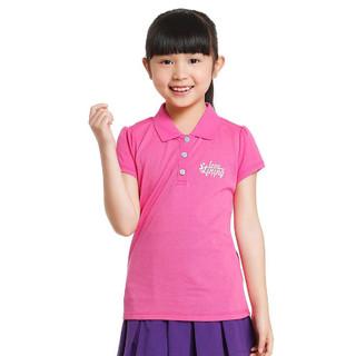 LI-NING 李宁 短袖女运动休闲系列舒适运动儿童圆领透气T恤