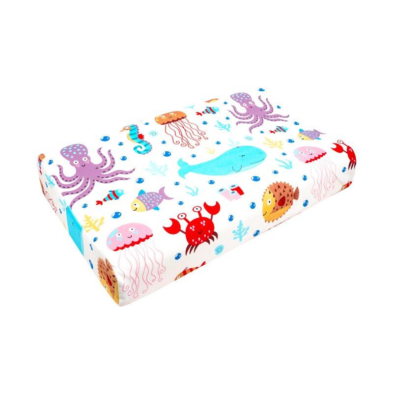TAIPATEX 泰国原装进口天然乳胶枕头 93%乳胶含量防螨抑菌卡通幼儿枕海底世界6-12岁青少年