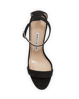 MANOLO BLAHNIK Chaos Suede Ankle-Strap Sandals