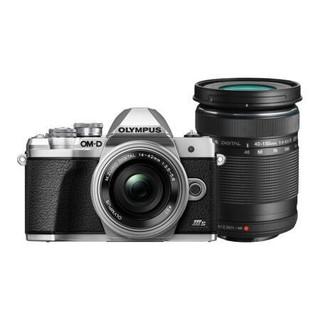 OLYMPUS 奥林巴斯 E-M10 MarkIIIS M4/3画幅 微单相机 银色 14-42mm F3.5 变焦镜头 双头套机