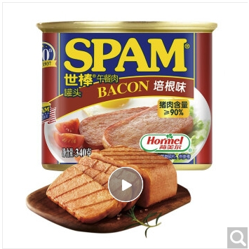 SPAM 世棒 午餐肉罐头培根口味   340g