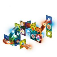 优贝熊 灯光版彩窗磁力积木玩具 49件
