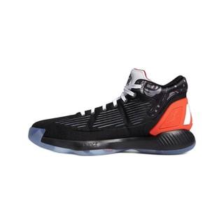 adidas 阿迪达斯 D Rose 10 男子篮球鞋 EH2000 1号黑色/红荧光/丁蓝/浅猩红 44