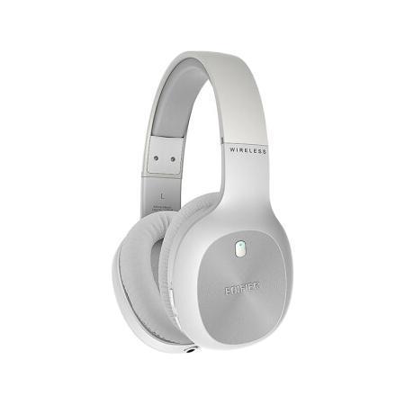 EDIFIER 漫步者 无线蓝牙耳机双边立体声华为苹果小米头戴式音乐运动耳麦W800BT 珍珠白