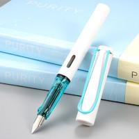 传人 3882 卡装钢笔 EF尖 白杆蓝夹