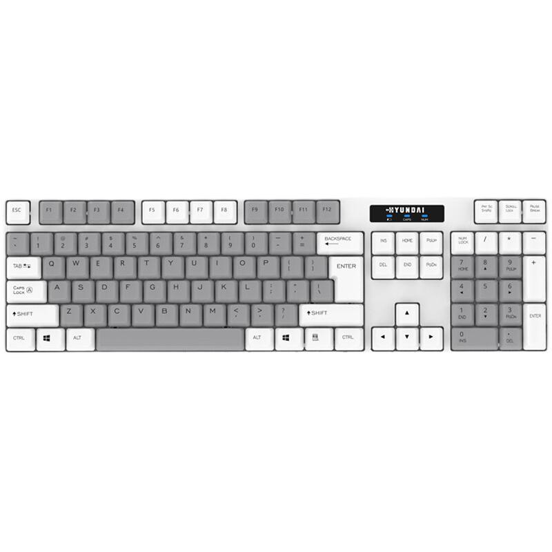 HYUNDAI 现代数码 NK3000C 无线薄膜键盘 104键  充电款