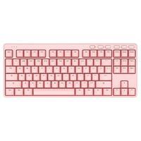 iKBC S200 无线机械键盘 87键 粉色 青轴