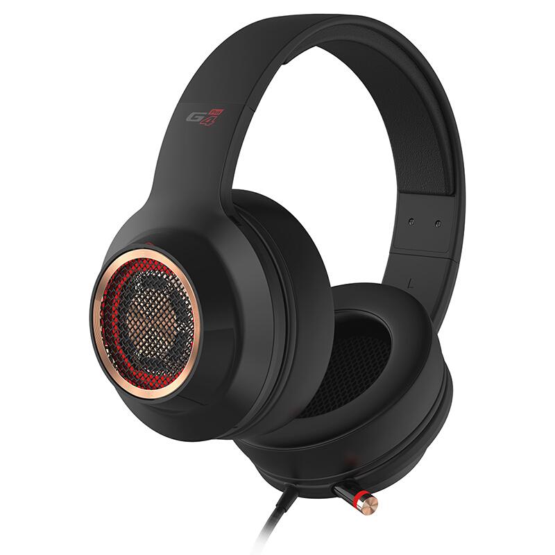 EDIFIER 漫步者 G4 PRO 耳罩式头戴式降噪耳机 黑金色 USB口