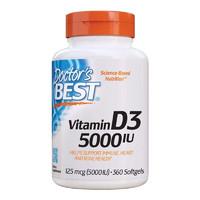 Doctor's BEST 维生素D3软胶囊 360粒