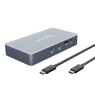 阿卡西斯 m.2双盘位NVME硬盘盒雷电3扩展坞typec转USB3.0硬盘壳 四位雷电3硬盘盒+拓展坞
