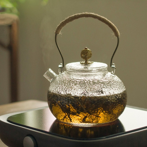 SUYI 素以 手工锤纹耐热玻璃茶壶