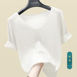 丝柏舍 2021简约打底衫短袖女夏上衣新款