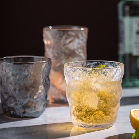 猫厨 冰川纹玻璃杯高颜值水杯女果汁饮料杯子女夏ins风咖啡杯啤酒杯男