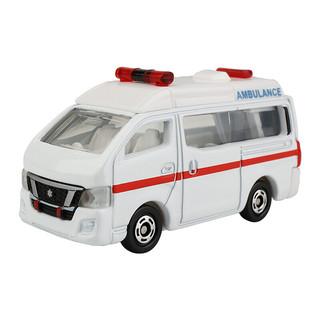 TAKARA TOMY 多美 卡合金仿真小汽车模型男孩玩具18号尼桑急救车救护车471066