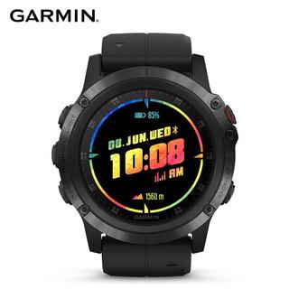 GARMIN 佳明 fenix 5x Plus血氧浓度光电心率三星定位ADLC音乐NFC支付GPS导航户外旗舰级运动手表飞5黑色
