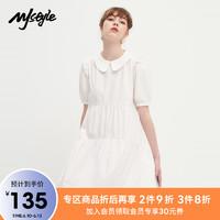 MJ STYLE MJstyle2021夏季新品减龄休闲显瘦娃娃领短袖连身裙-621060108