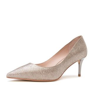 hotwind 热风 潮流优雅女士细高跟鞋尖头浅口细跟女鞋H04W8101