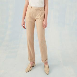 ME&CITY 2021春夏女西装裤宽松直筒锥形裤女式休闲裤