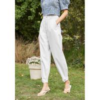eifini 伊芙丽 1C5951761-1白色 女士高腰工装裤