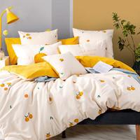Dohia 多喜爱 橘色心情 双面磨毛三件套 1.2m床