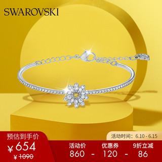 SWAROVSKI 施华洛世奇 新品 ETERNAL FLOWER 爱的魔力 手镯 女友礼物 镀白金色 5542012
