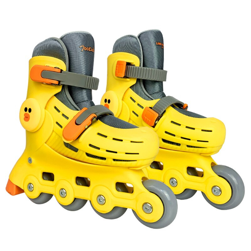 700Kids 柒小佰 儿童轮滑鞋 72001201B1C 黄色/莎莉 24.5-31码