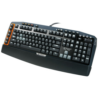 logitech 罗技 G710+ 121键 有线机械键盘 黑色 Cherry茶轴 单光