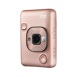 FUJIFILM 富士 instax立拍立得 数模一次成像相机(具有手机照片打印功能)mini Liplay 腮红金
