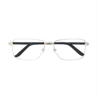 Cartier 卡地亚 CT0040O 银框经典光学镜架 可配近视镜
