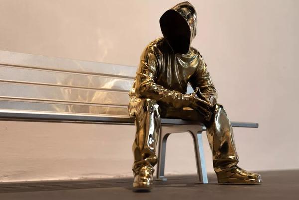 """构得艺术 黄玉龙""""天地"""" 艺术品创意摆件 尺寸30cm 铜 铝 2018年"""