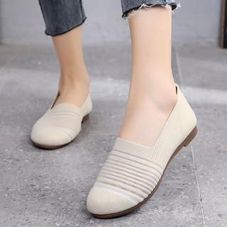 老北京布鞋女春夏透气网面网鞋牛筋底软底妈妈鞋平底豆豆鞋一脚蹬