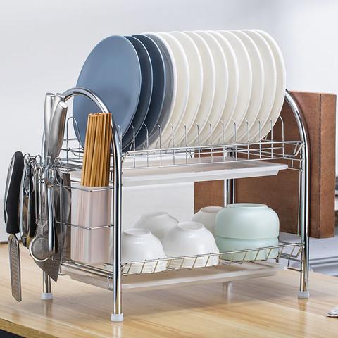 Mumo 沐沫 厨房架子置物架落地多层碗碟架控水碗架