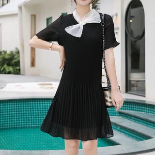 Lee Cooper 时尚纯色气质条纹潮流舒适女士时尚连衣裙