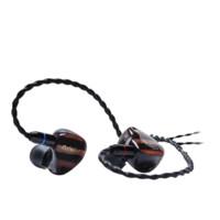 Jaben 甲本 山鹂 入耳式挂耳式混合三驱动有线耳机 黑色 3.5mm