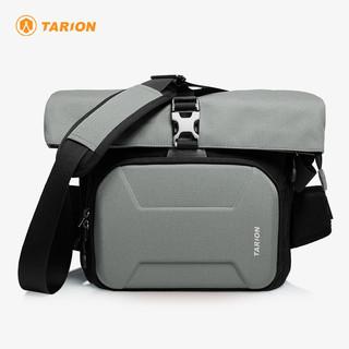 TARION 德国单反单肩相机包便携佳能尼康斜跨摄影包索尼XHS 灰色