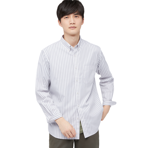 UNIQLO 优衣库 436425 男士条纹长袖衬衫