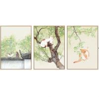 海龙红 家庭民宿壁画《沐浴春风》43x60cm 油画布 实木画框
