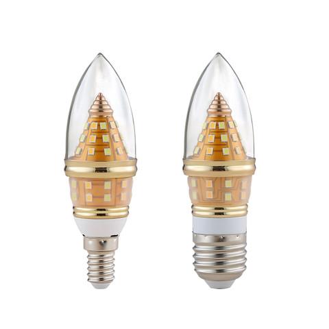 超亮灯泡led蜡烛灯e14螺口家用吊灯光源e27白光节能灯12W16W暖光