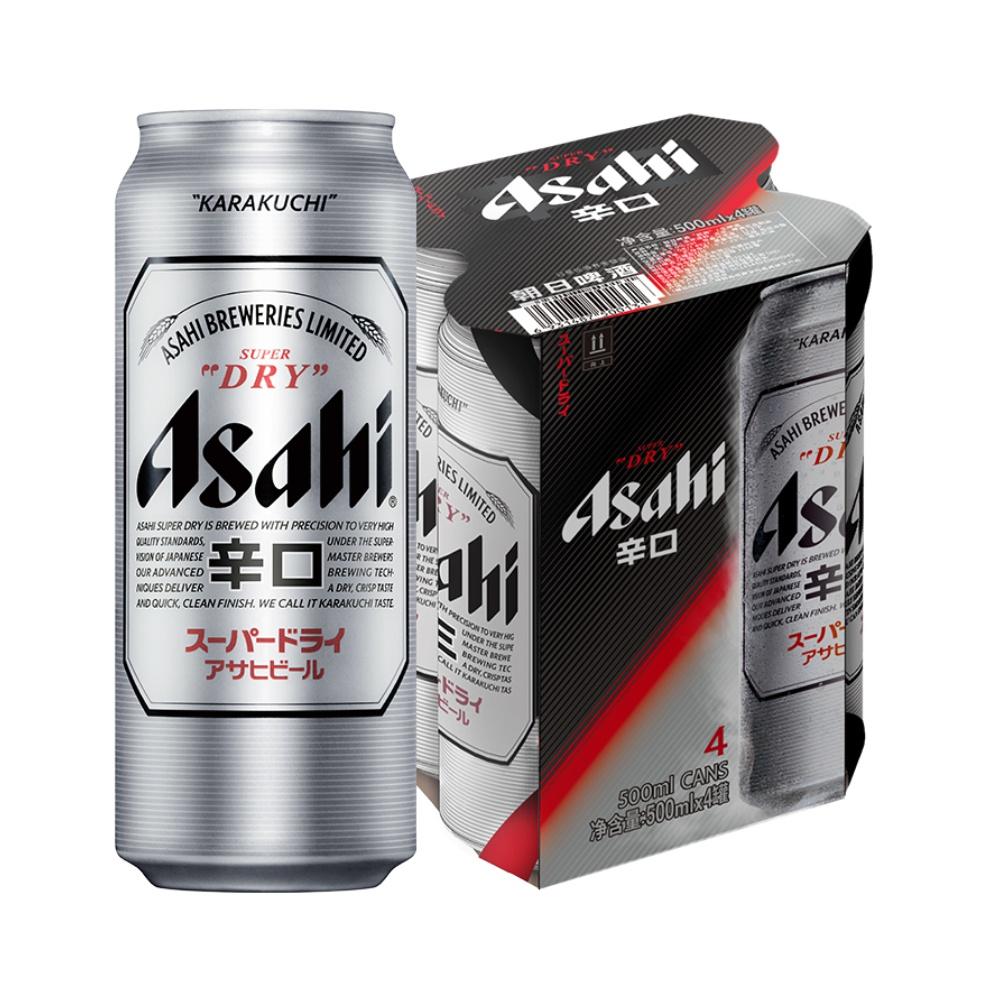 Asahi 朝日啤酒 超爽系列生啤 500ml*4罐