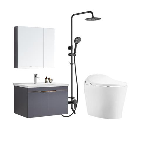 HUIDA 惠达 卫浴浴室柜实木智能电动马桶淋浴器花洒喷头组合套装1381 5011+1381-80+ET31-Q