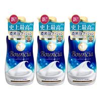 Cow 牛乳石硷 Bouncia浓密泡沫花香沐浴露补充装 400ml*3
